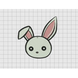 Bunny Bent Ear Rabbit Embroidery Design in 2x2 3x3 4x4 and 5x5 Sizes