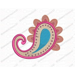 Paisley Floral Pattern 4 Embroidery Design in 2x2 3x3 4x4 and 5x7