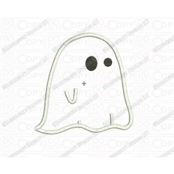 Ghost Cloth Halloween Applique Embroidery Design in 3x3 4x4 and 5x5 Sizes