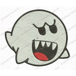 Boo Ghost Halloween Full Stitch Embroidery Design in mini 2x2 3x3 4x4 and 5x7 Sizes