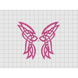 Butterfly Celtic Style Embroidery Design in 2x2 3x3 4x4 and 5x5 Sizes