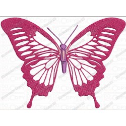 Classic Real Butterfly Applique Embroidery Design in 4x4 and 5x7 Sizes