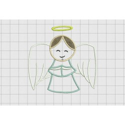 Angel Halo 3 Layer Applique Embroidery Design in 4x4 5x5 and 6x6 Sizes