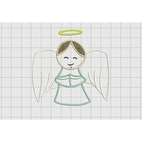 Angel Halo 3 Layer Applique Embroidery Design In 4x4 5x5 And 6x6