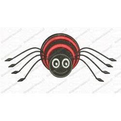 Happy Funny Spider Embroidery Design in 3x3 4x4 and 5x7 Sizes