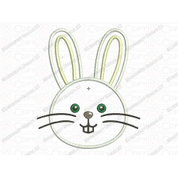 Easter Bunny Rabbit Applique Embroidery Design in 3x3 4x4 and 5x7 Sizes