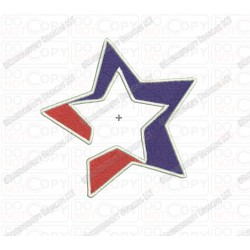 Star in Star Embroidery Design in 1x1 2x2 3x3 4x4 and 5x5 Sizes