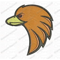 Bird Eagle Head Embroidery Design in 3x3 4x4 and 5x7 Sizes