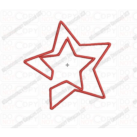 Star In Star Applique Embroidery Design In 3x3 4x4 And 5x5 Sizes
