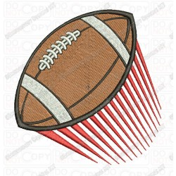 Football In Motion Embroidery Design in 3x3 4x4 and 5x7 Sizes