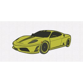 Exotic Car Embroidery Design in 4x4 5x7 and 6x10 Sizes