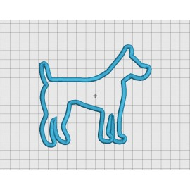 Dog Canine Applique Embroidery Design in 4x4 5x5 and 6x6 Sizes