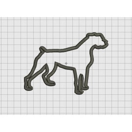 Dog Boxer Applique Embroidery Design in 4x4 and 5x7 Sizes
