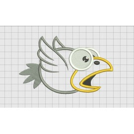 Bird Raven 2 Layer Applique Embroidery Design in 3x3 4x4 and 5x7 Sizes