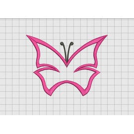 Butterfly 1 Layer Applique Embroidery Design in 3x3 4x4 5x5 and 6x6 Sizes