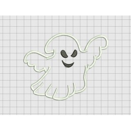 Ghost 3 Scary Halloween Applique Embroidery Design in 4x4 5x5 and 6x6 Sizes