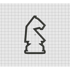 Chess Knight Piece Applique Embroidery Design in 4x4 5x5 and 6x6 Sizes