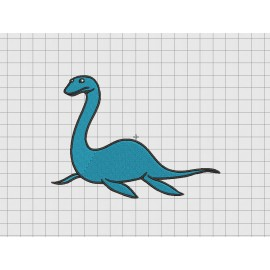 Loch Ness Monster Nessie Embroidery Design in 4x4 and 5x7 Sizes