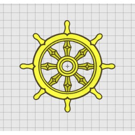 Ship's Wheel Boat Embroidery Design in 3x3 4x4 5x5 and 6x6 Sizes