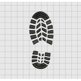 Boot Silhouette Embroidery Design in 3x3 4x4 and 5x5 Sizes