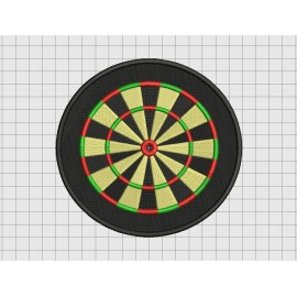 Dartboard Darts Embroidery Design in 4x4 5x5 6x6 and 7x7 Sizes