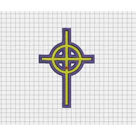 Celtic Cross Fill Stitch Embroidery Design in 2x2 3x3 4x4 5x5 6x6 and 7x7 Sizes
