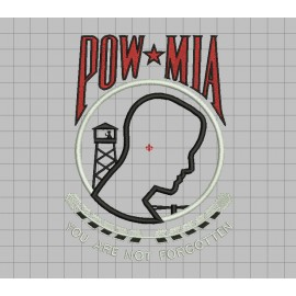 POW MIA Prisoners of War Missing in Action Applique Embroidery Design in 4x4 5x7 and 6x10 Sizes
