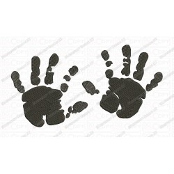 Baby Hands Embroidery Design in 2x2 3x3 4x4 and 5x7 Sizes