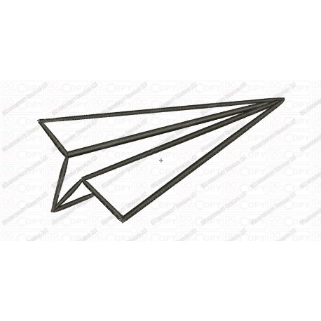 Paper Airplane Applique Embroidery Design In 3x3 4x4 And 5x7 Sizes
