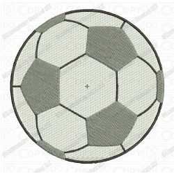 Soccer Football Full Stitch Embroidery Design in 1x1 2x2 3x3 4x4 5x5