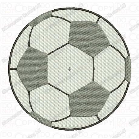Soccer Football Full Stitch Embroidery Design In 1x1 2x2 3x3 4x4 5x5