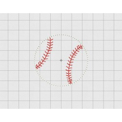 "Baseball Felt Embroidery Design in .75"" 1"" 1.5"" and 2"" Sizes"