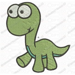 Baby Cartoon Dinosaur Embroidery Design in 2x2 3x3 4x4 and 5x7 Sizes